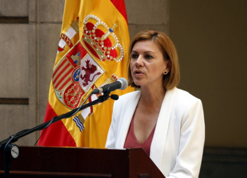 The Spanish defence minister, María Dolores de Cospedal