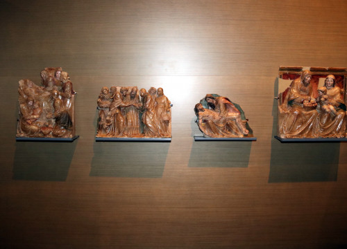 Four pieces from the Sixena Monastery still on display in the Museum of Lleida (by ACN)