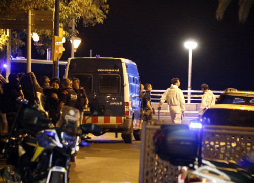 Police action in Ripoll last Friday