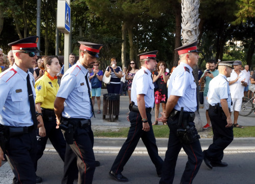 Catalan police officers in Cambrils (by ACN)