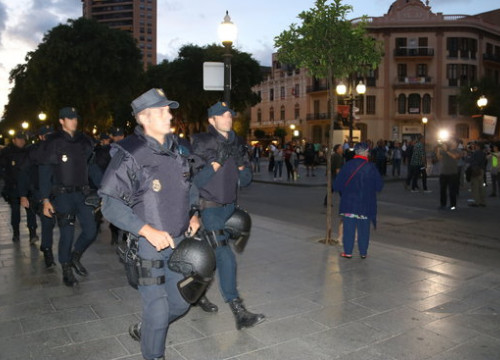 Spain's National Police in Tarragona in September, 2017 (by Sílvia Jardí)