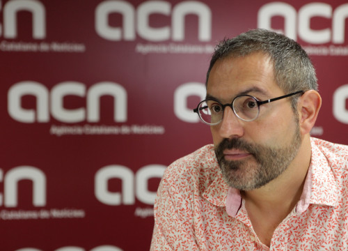 Manuel Forcano, director of Institut Ramon Llull, at an interview with the ACN (by Violeta Gumà)