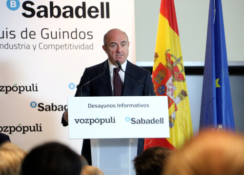 Spain's Minister of Economy Luís de Guindos in September (by ACN)