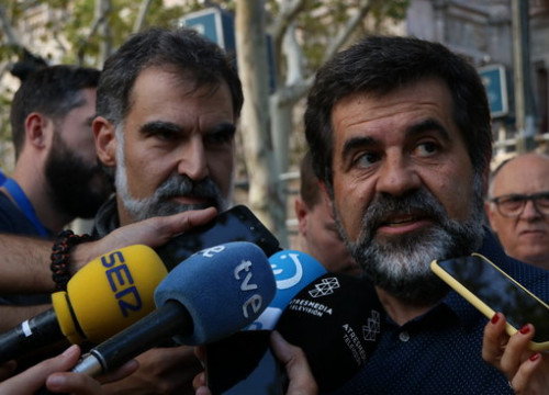 Jailed pro-independence leader Jordi Sànchez (by Andrea Zamorano)