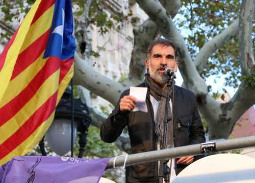 Jordi Cuixart in a pro-independence rally in 2017 (by ACN)