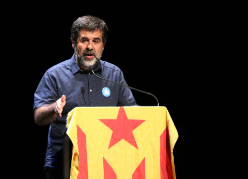 Former ANC president and number two on the Together for Catalonia ticket Jordi Sànchez speaks on September 24 2017 (by Núria Julià)