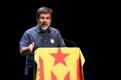 Jordi Sànchez before being jailed (by ACN)