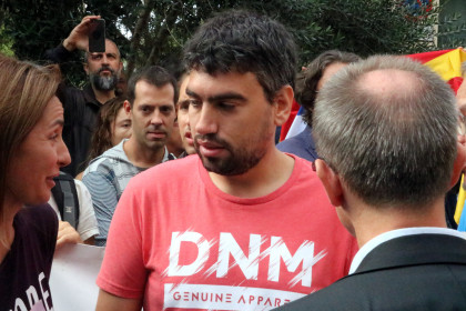 Marc Ruiz, one of the individuals summoned to the Spanish Guardia Civil police station for duplicating the referendum website (by ACN)