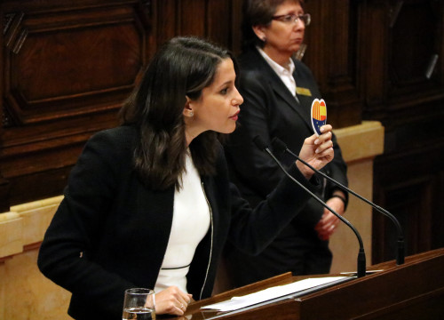 The head of opposition, Inés Arrimadas