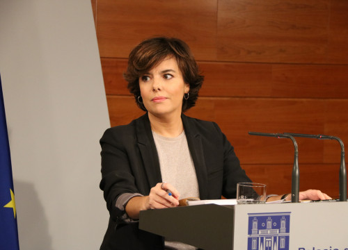 The Spanish vice president, Soraya Sáenz de Santamaría
