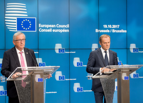 President of the European Council, Donald Tusk, with president of European Commission, Jean-Claude Juncker, to whom both open letters were addressed (by ACN)