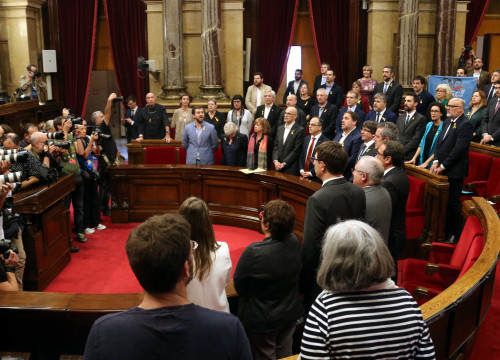 Catalan Parliament after voting on independence declaration (by Pere Francesch)