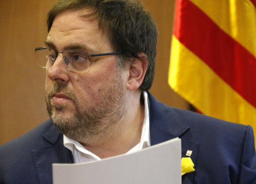 Deposed vice president Oriol Junqueras on October 31 (by ACN)