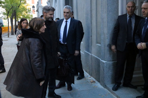 The Catalan Parliament president, Carme Forcadell, arriving at the Spanish National Court