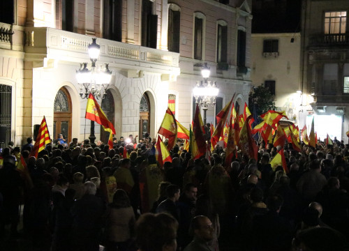 The pro-Spanish unity November 10 demonstration in Sabadell (by ACN)