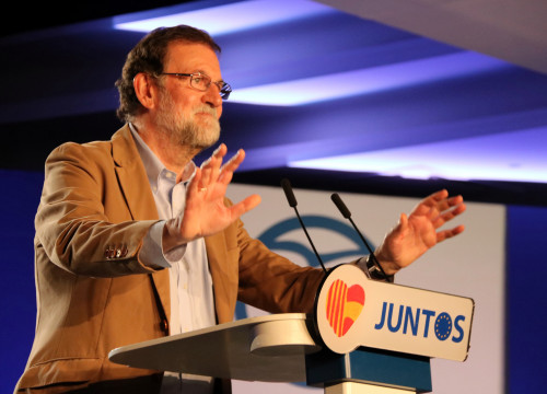 Spanish president Mariano Rajoy at the pre-campaign inaugural event in Barcelona on November 12 (by ACN)