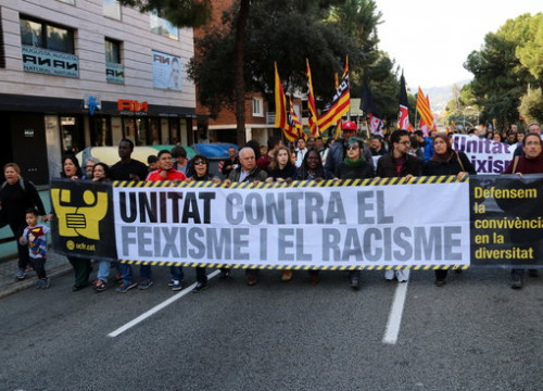 Demonstration organised by the Unity Against Fascism and Racism platform (by ACN)