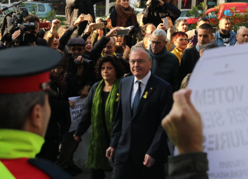 Reus mayor Carles Pellicer arriving in court on Thursday (by ACN)