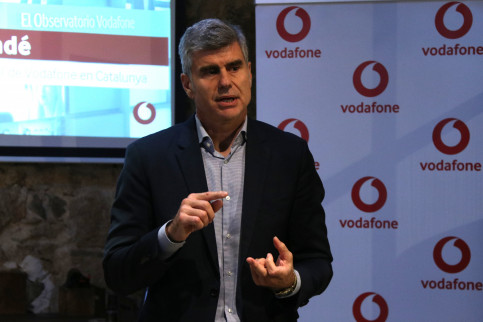 The president of Vodafone in Catalonia, Albert Buxadé, at the presentation of the report (by ACN)