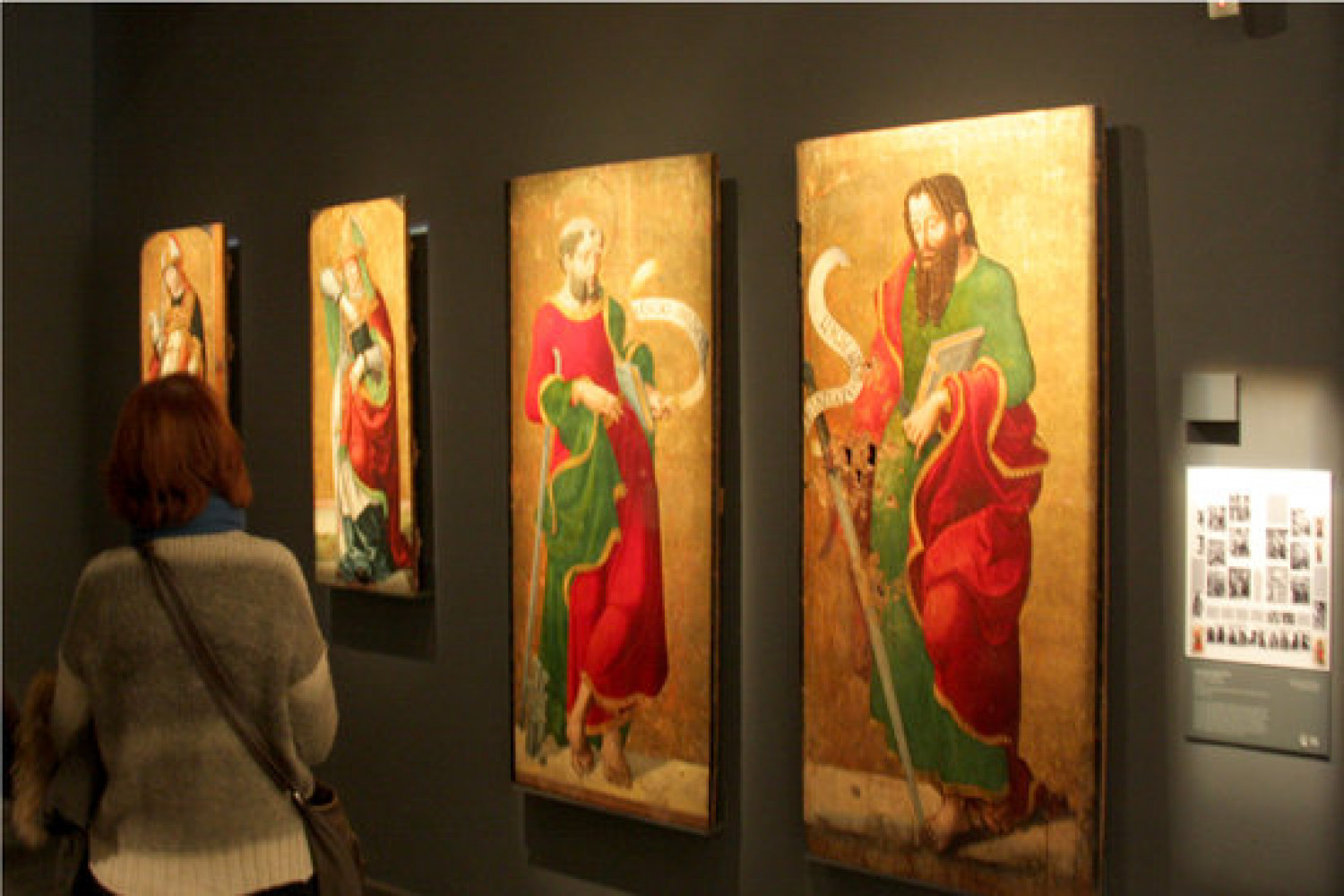 Some of the disputed works of art originally from the Sixena monastery, photographed on display in 2017 (by Albert Lijarcio)