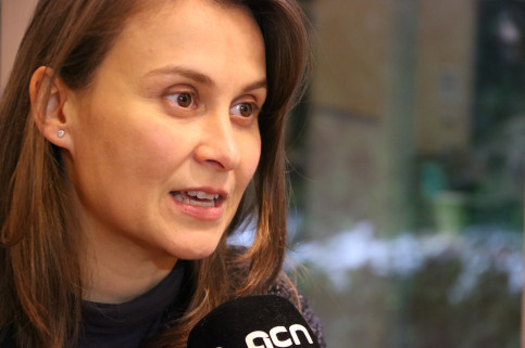 Catalan minister for Agriculture Meritxell Serret in Brussels during an inteview with ACN on December 13 2017 (by Albert Segura)