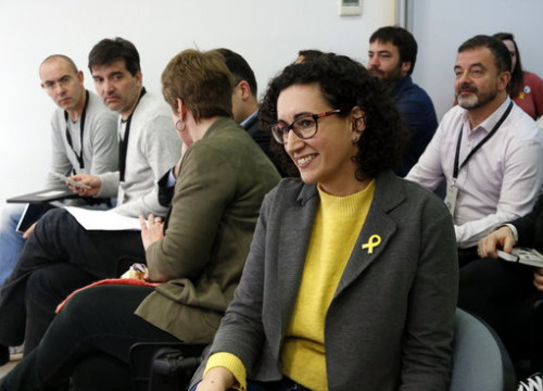 Marta Rovira, in a party officials meeting on January 13, 2018 (by Mar Martí)