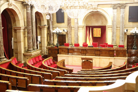 An image of the Catalan Parliament empty on January 2018 (by Rafa Garrido)