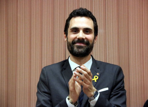 Catalan Parliament president Roger Torrent (by ACN)