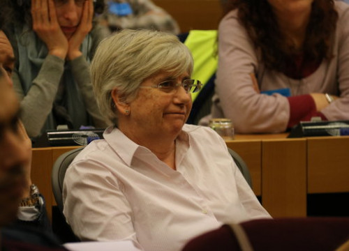 The Catalan education deposed minister, Clara Ponsatí, on February 1, 2018 (by Laura Pous)
