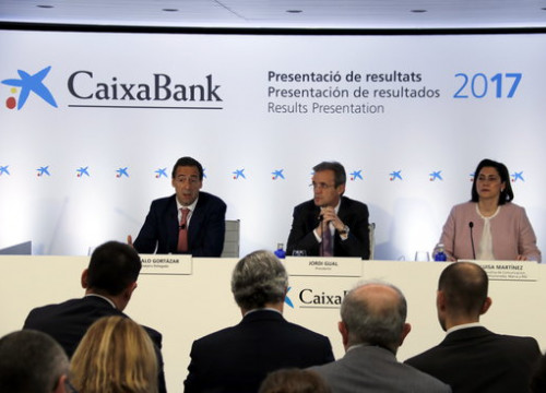 CaixaBank's presentation of 2017 results (by ACN)
