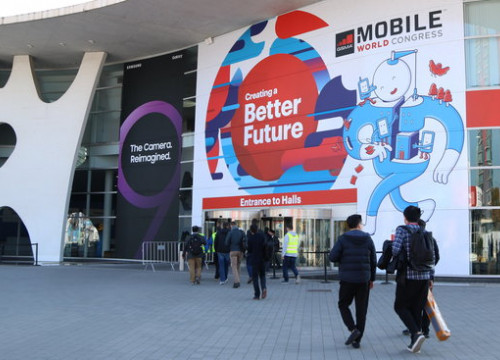 The entrance to the Mobile World Congress on February 25 2018 (by Andrea Zamorano)