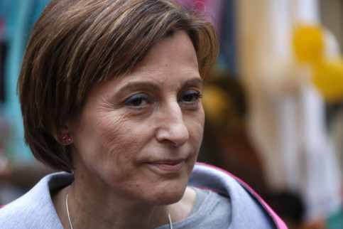 The former Catalan Parliament president, Carme Forcadell on March 3, 2018 (by Rafa Garrido)