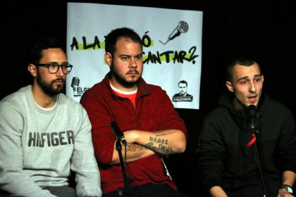From left to right: Valtònyc, Pablo Hasél, and Elgio, three Hip Hop artists sentenced to prison by Spanish courts (by Jordi Bataller)