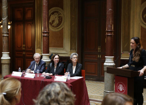 Presentation of 50a50 lobby at Barcelona Bar Association, with Ada Colau (by ACN)
