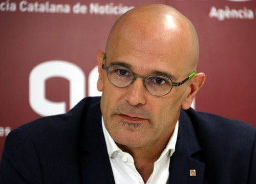 Raül Romeva, currently in prison while the Catalan Trial is ongoing, named as Esquerra Republicana's candidate for the Spanish Senate