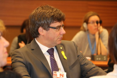 Puigdemont in Geneva on Monday (by ACN)