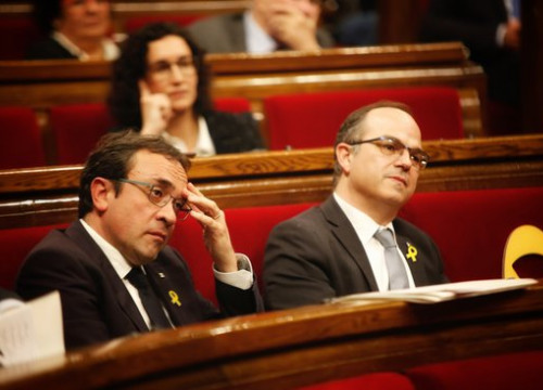 Former Catalan ministers Josep Rull (left) and Jordi Turull (by ACN)