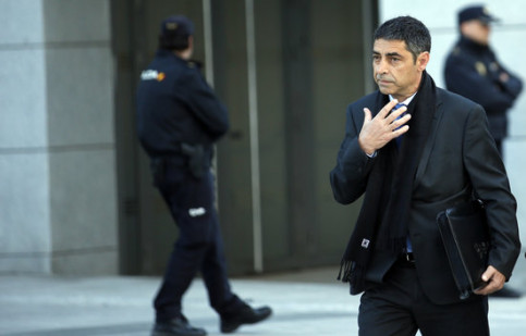 Former police chief Josep Lluís Trapero at the Spanish National Court on April 16 2018 (by Javier Barbancho / ACN)