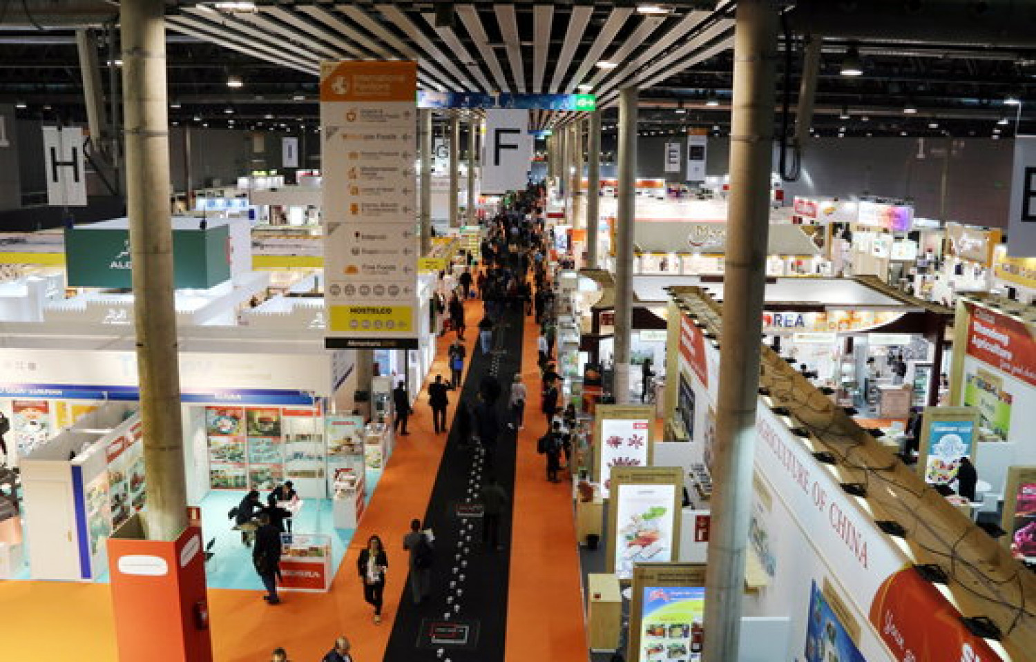 A general view of the 2018 edition of the Alimentaria trade fair, held at Fira Barcelona (by Àlex Recolons)