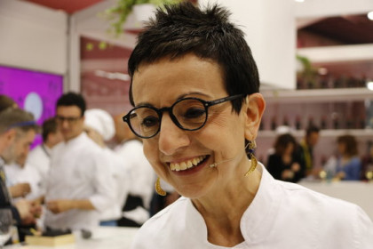 Chef Carme Ruscalleda in the Alimentaria fair on April 16, 2018 (by Guillem Roset)
