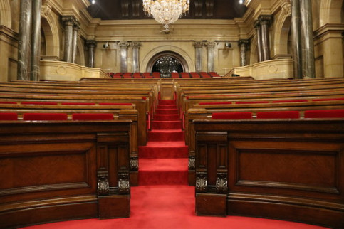 The Catalan Parliament, empty before the investiture debate (by Núria Julià)