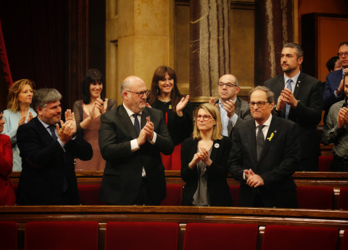 The new Catalan president, Quim Torra, in parliament (by ACN)