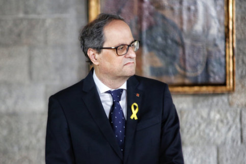 The Catalan president, Quim Torra, during his inauguration on May 18, 2018 (by Marc Rovira)