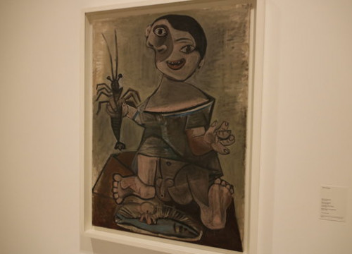 Picasso's painting 'Young Boy with Lobster' at the Picasso Museum on 23 May 2018 (by Guillem Roset)