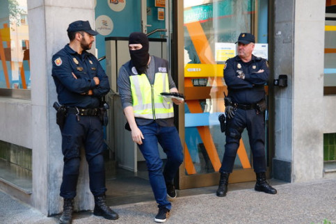 One of the buildings raided in Girona, the Plataforma Educativa foundation, on May 24, 2018 (by Marina López)