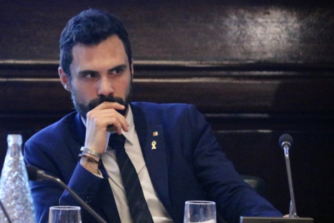 Catalan speaker Roger Torrent (by Laura Batlle)