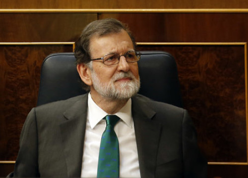 Ousted Spanish president Mariano Rajoy in Spanish Congress on May 31, 2018 (by Javier Barbancho)