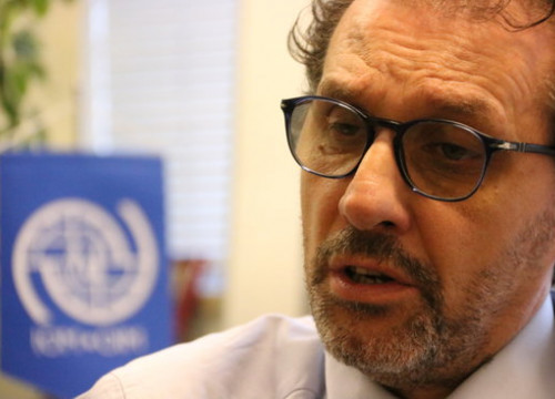 Regional director of International Organization for Migration, Eugenio Ambrosi (by Natàlia Segura)