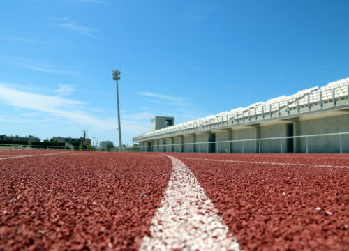 Running track for the Tarragona Mediterranean Games 2018 (by ACN)