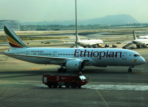Ethiopian Airlines lands at Barcelona airport for first time (by ACN)
